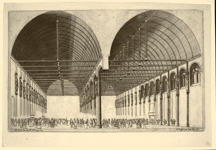 Charles Meryon, 'La Salle des Pas-Perdues à L'ancien Palais-de-Justice, Paris. After J. Androuet DuCerceau', 1855