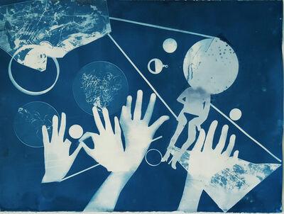 Ofri Cnaani, 'Blue Print (OC Real and Fake Hands) #1', 2015