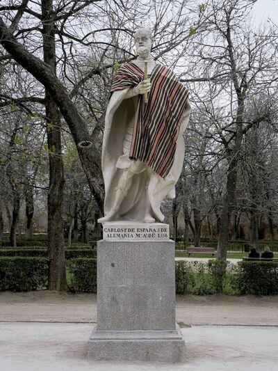 Ivan Argote, 'Turista: Carlos I de España y 5 de Alemania (Madrid, Parque del Retiro)  ', 2012