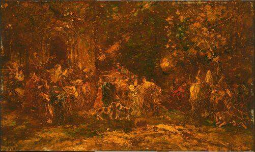 Adolphe Monticelli, 'Woodland Worship', ca. 1872