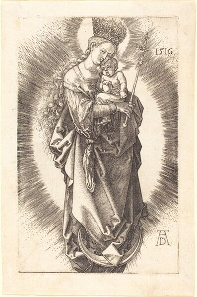 Albrecht Dürer, 'The Virgin and Child on a Crescent with a Sceptre and a Starry Crown', 1516