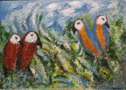 Florence Putterman, 'Feathered Friends'