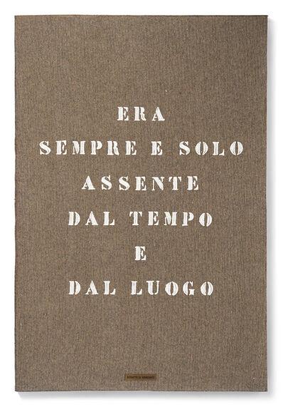 Vincenzo Agnetti, 'Ritratto di viandante', 1970