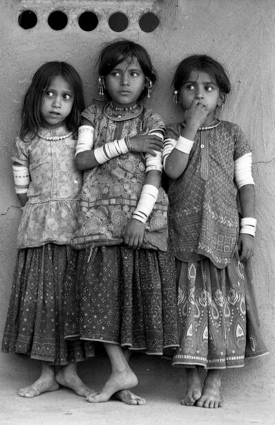 Jyoti Bhatt, 'Harijan girls, Banni, Kutch, Gujarat', 1971