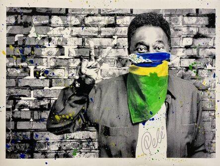 Mr. Brainwash, 'The King Pelé - Flag Portrait', 2016