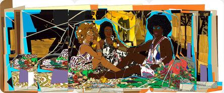 Mickalene Thomas, 'Le déjeuner sur l'herbe: Les Trois Femmes Noires', 2010