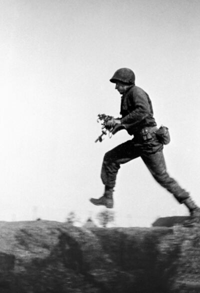 Tony Vaccaro, 'Machine Gun Fire, Germany, 1945'