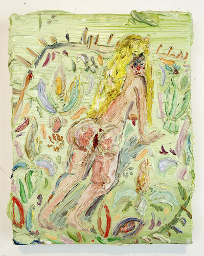 Allison Schulnik, 'Tiny Rug Girl', 2010