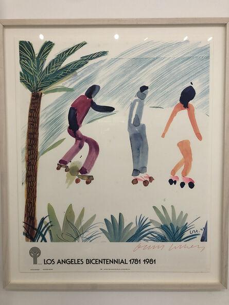 David Hockney, 'Venice Skaters LA Bicentennial 1981', 1981