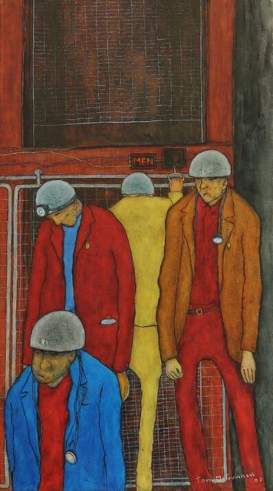 Tom McGuinness, 'Miners leaving the cage ', 2003