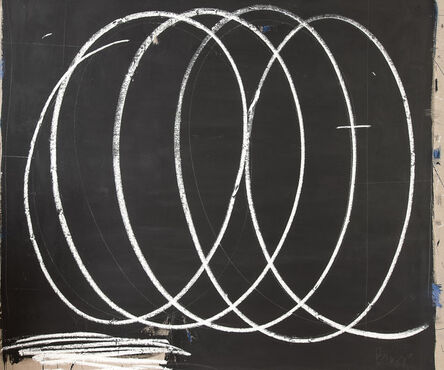 Briggs Edward Solomon, 'Black with Large White Swirls', 2014