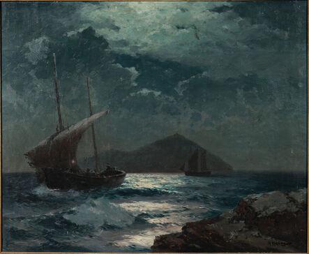 Alexei Vasilievich Hanzen, 'Ships in Moonlight'