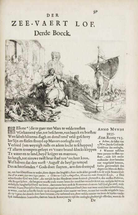 Rembrandt van Rijn, 'Der Zee-Vaert Lof, Handelende vande gedenckwaerdighste Zeevaerden met de Daeraenklevande op en Onderganghen der Voornaemste Heerschappijen der Gantscher Wereld.', Amsterdam: Jan F. Stam for Jacob Piertersz Wachter-1634.