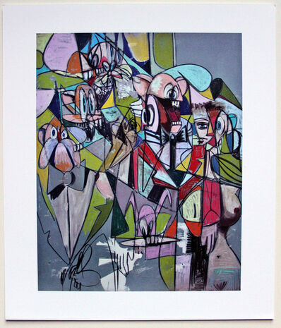 George Condo, 'Plate 5 Cascading Butlers', 2011