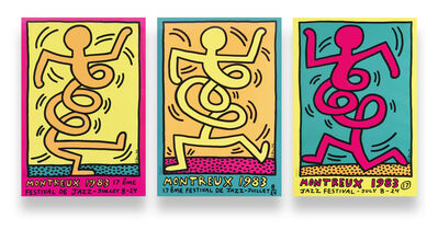 Keith Haring, 'Montreux Jazz De Festival (Green, Pink & Yellow)', 1983
