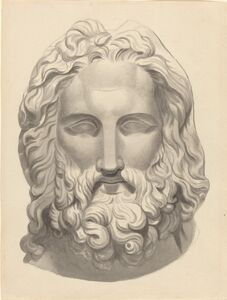 John Flaxman, 'Antique Bearded Head'