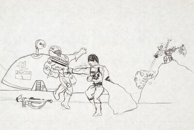 Trenton Doyle Hancock, 'Torpedoboy Fights Aliens', 1984