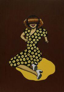 Dawn Mellor, 'Joan in Yellow Spot', 1997