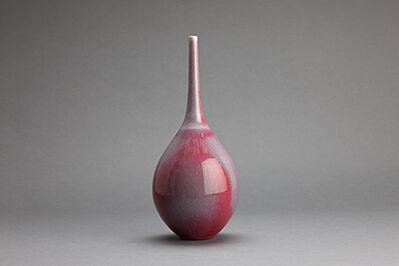 Hideaki Miyamura, 'Teardrop vase, red glaze'