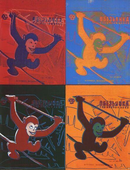 Andy Warhol, 'Four Monkeys (Lg)', 1990