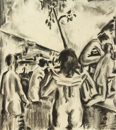 Preston Dickinson, 'Women at Pool', 1916