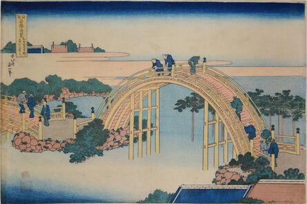Katsushika Hokusai, 'The Drum Bridge at Kameido Tenjin Shrine', ca. 1830