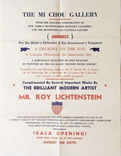 Roy Lichtenstein, 'Mi Chou Gallery', 1962