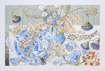Angie Lewin, 'Honesty Blue'