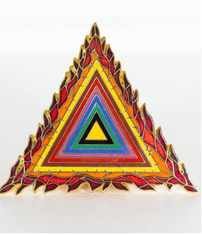Judy Chicago, 'Holocaust Project Logo Pin and Pendant', 1993