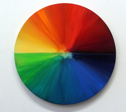 Sandra Vucicevic, 'Circle of Life - Food dye color wheel with a set of colorful cards', 2015