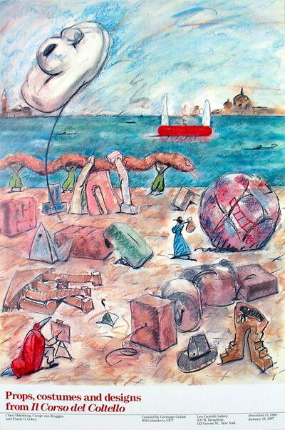 Claes Oldenburg, 'Props, Costumes & Designs from Il Corso del Coltello', 1986