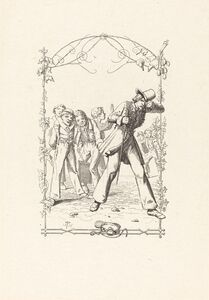 Adolf Schrödter, 'Peter Schlemihl Taunted for His Lack of Shadow', 1836
