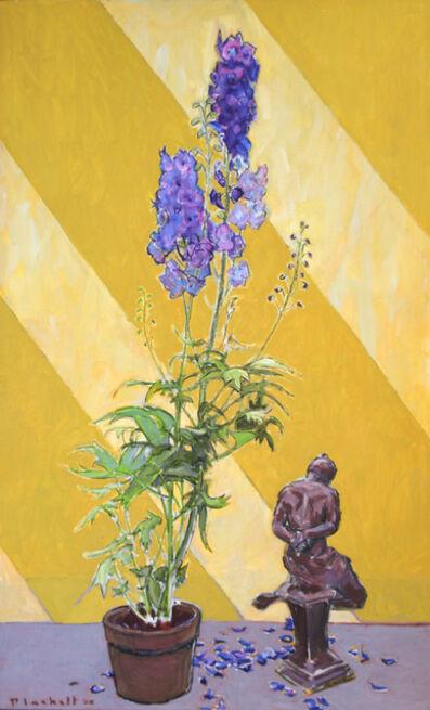 Joseph Plaskett, 'Delphinium and Sculpture 1', 2005