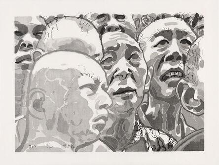 Fang Lijun 方力钧, 'Untitled Men in Crowd', 2010
