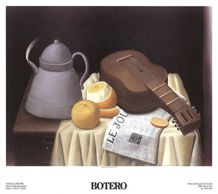 Fernando Botero, 'Still Life with Newspaper', 1991
