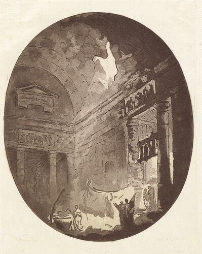 Jean Claude Richard de Saint-Non (author), '[Interior of an antique building]', 1765