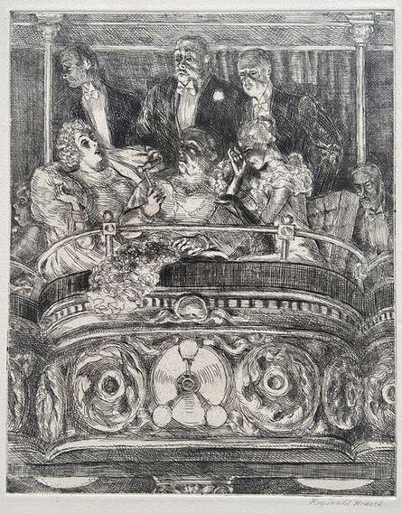 Reginald Marsh, 'Box at the Metropolitan', 1934