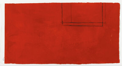 Robert Motherwell, 'Red Open with White Line', 1979