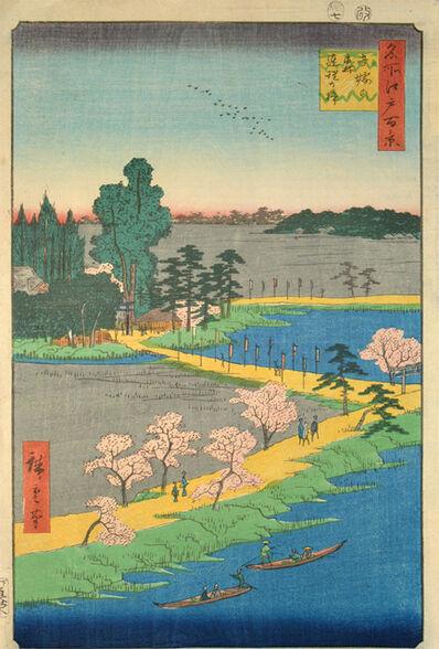 Utagawa Hiroshige (Andō Hiroshige), 'Azuma Shrine and the Entwined Camphor', 1856