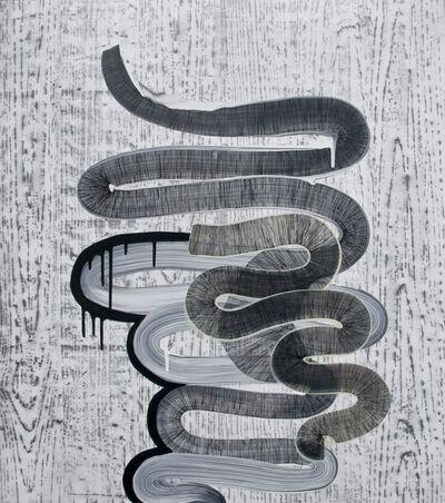 Alyse Rosner, 'With woodgrain (rickrack layer)', 2009