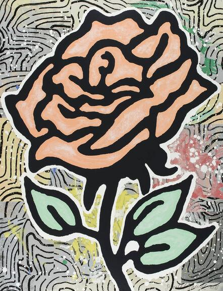 Donald Baechler, 'Peach Rose', 2015