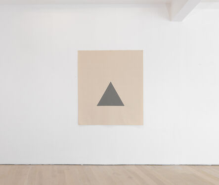 Alan Charlton, 'Hanging Canvas Isometric Triangle ', 2017