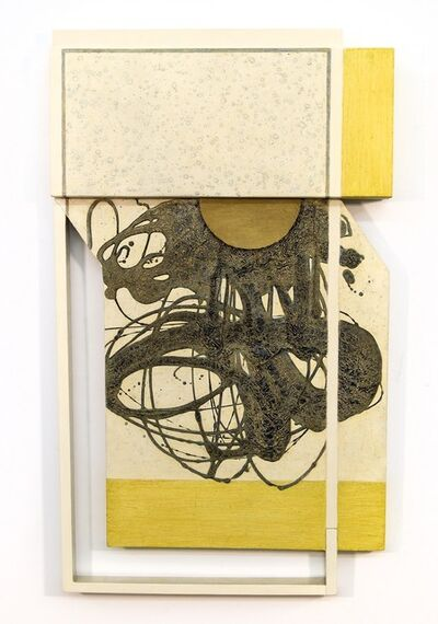 Lucy Maki, 'Thinking Outside The Box - yellow, white, abstract, three dimensional, wall art', 2009