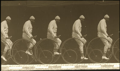 Étienne-Jules Marey, 'Chronophotograph of a Man on a Bicycle', ca. 1885/1890
