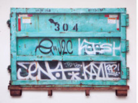 "Dan Witz, '""Dumpster (Green) South Williamsburg""', 2016"