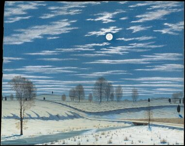 Henry Farrer, 'Winter Scene in Moonlight', 1869