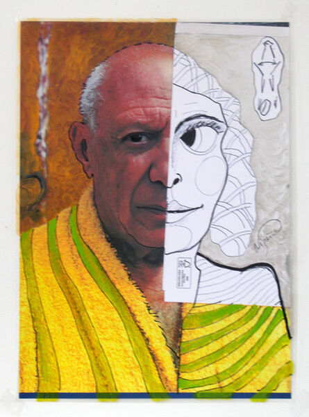 Jacques Lizène, ' Sculpture génétique, 1970 en remake 2015, technique mixte, 120 x 73 cm', 2015