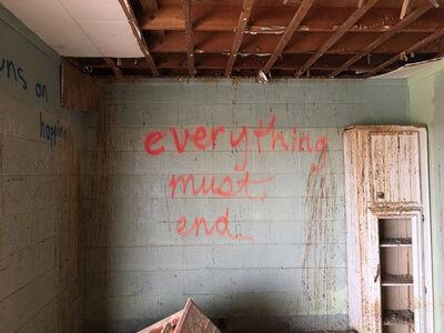 "Richard Misrach, '""Everything must end,"" Salton Sea Beach, California', 2017"