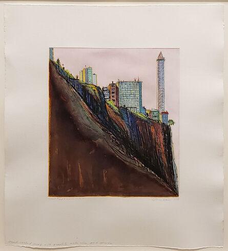 Wayne Thiebaud, 'White Marina Ridge', 1997
