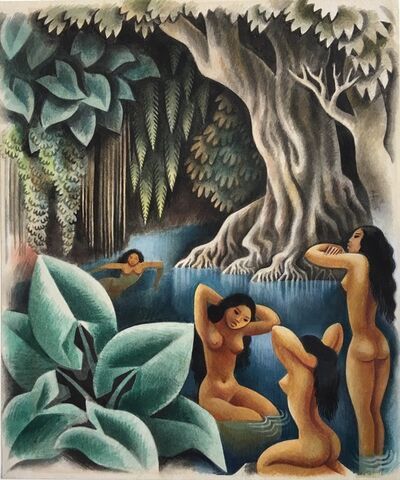 Miguel Covarrubias, 'Bathing in the River (Bali)', ca. 1930
